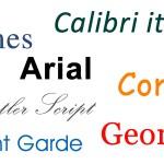 Abbildung der Schriftenvielfalt