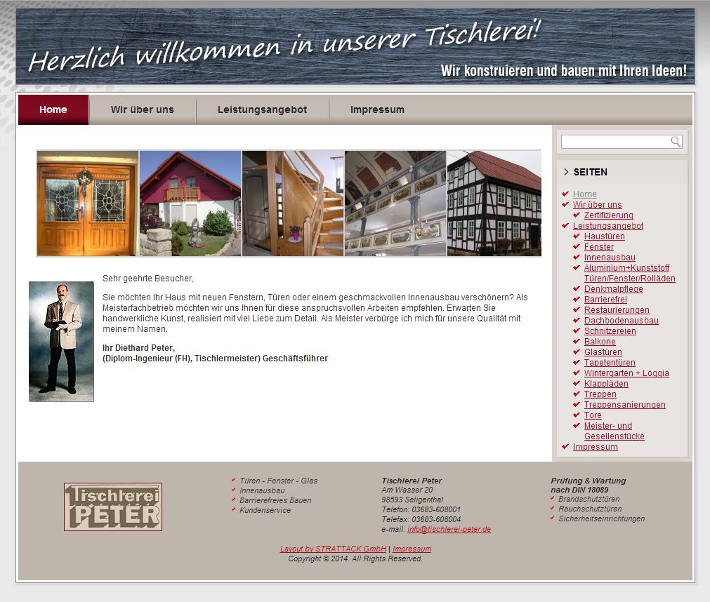 Website-Relaunch für die Tischlerei Peter
